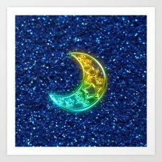 Moon Night Art Print