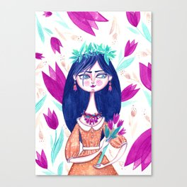 Miss Tulip Canvas Print
