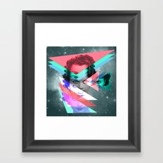 galactic implosion Framed Art Print