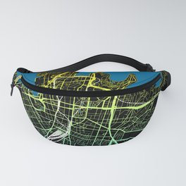 Colourful Road Map of Sydney, Australia Fanny Pack
