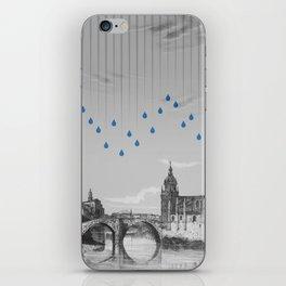 La lluvia en Bilbao es una pura maravilla iPhone Skin