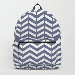 WEFT - periwinkle chevron #society6 pattern Backpack