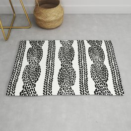 Cable Row Rug
