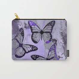 Abstract Butterfly Art Ultraviolett Colors Carry-All Pouch