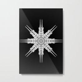 Ninja Star 8 Metal Print