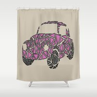 beetle Shower Curtains featuring Beetle  by Victoria-Anne