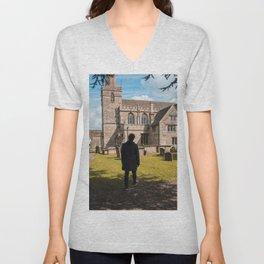 Cemetery walk Unisex V-Neck