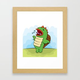 Humphrey the Deranged Platypus Monster Framed Art Print