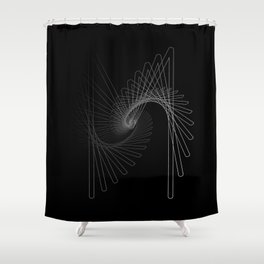 """Fly Collection"" - Abstract Minimal Letter M Print Shower Curtain"