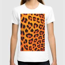 Orange and Red Leopard Spots T-shirt