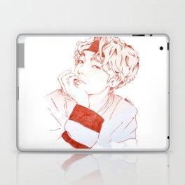 Taehyung with sanguine pencil Laptop & iPad Skin