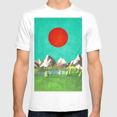 Nature in winter MEDIUM White Mens Fitted Tee