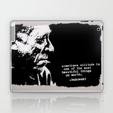 BUKOWSKI - solitude QUOTE Laptop & iPad Skin