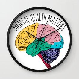 MENTAL HEALTH MATTERS Wall Clock