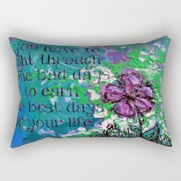 .bloom. {with quote} Rectangular Pillow