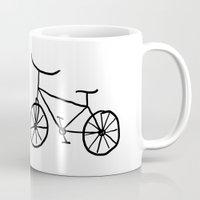 bike Mugs featuring Bike by Kristijan D.
