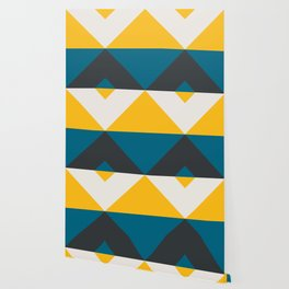 Split X Teal & Yellow Wallpaper