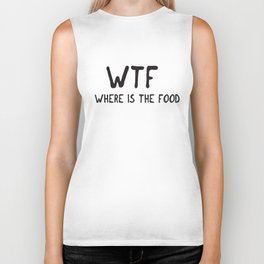 Wtf Where Is The Food Top Crop Cara Delevingne Tumblr Fashion Miley Swag T-Shirts Biker Tank