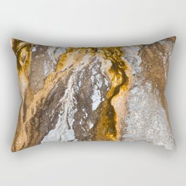 Abstract from a Hot Spring Rectangular Pillow