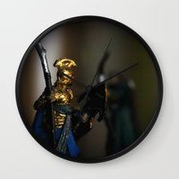 tolkien Wall Clocks featuring Tolkien Warriors by Madeline Audrey