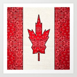 Retro Canadian Flag Art Print