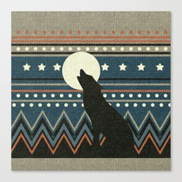 Wolf Howl Sweater Canvas Print