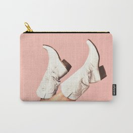 These Boots - Pink Carry-All Pouch