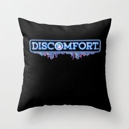 """""""Discomfort"""" Throw Pillow"""