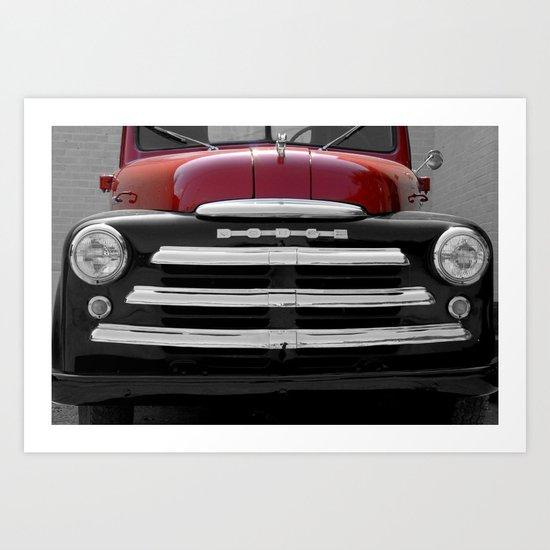 Vintage Dodge Pick Up Art Print