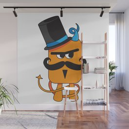 Mustachioed Miscreant Wall Mural