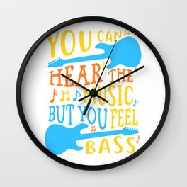 Bass Player Musician Rock Band Guitar Wall Clock