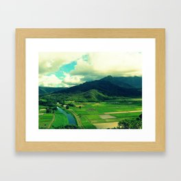 Hanalei Valley Framed Art Print