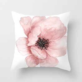 :D Flower Throw Pillow