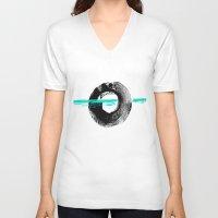 darren criss V-neck T-shirts featuring Criss-cross by zAcheR-fineT