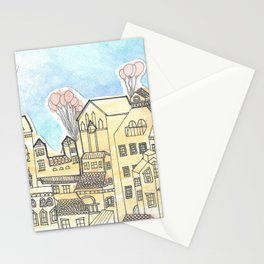 Space Town Stationery Cards