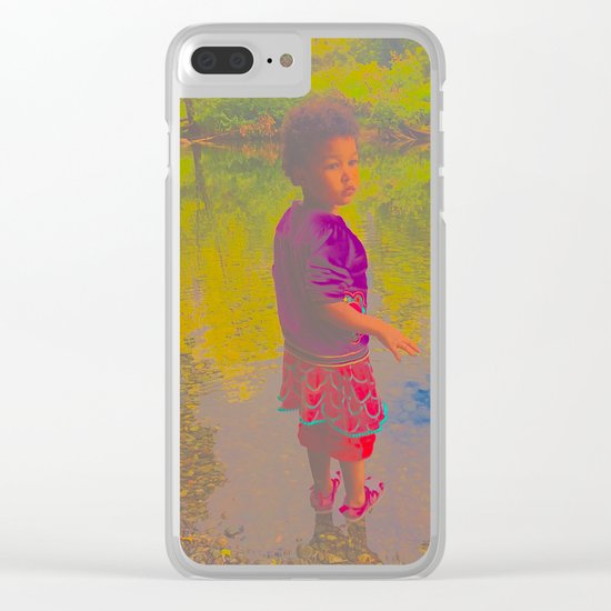 She Listens At Golden River And Feels An Overseeing Power Clear iPhone Case