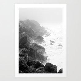 The Rocks of Halfmoon Bay Art Print