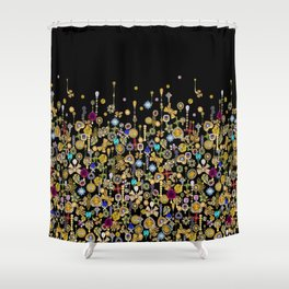Diamond and gold hearts for a glamorous Hollywood bohemian girl. Shower Curtain