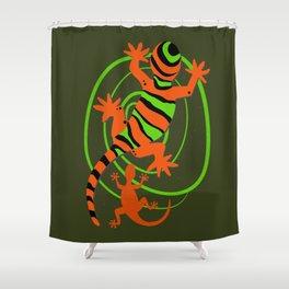 Cool Gecko Lizards Art Shower Curtain