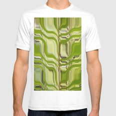 Abstract Germination White MEDIUM Mens Fitted Tee