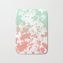 Abstract minimal ombre fade painted trendy modern color palette Bath Mat