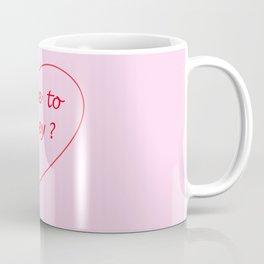 "Slogan ""Where to honey?"" Print Coffee Mug"