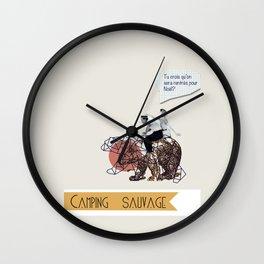 Camping Sauvage Wall Clock
