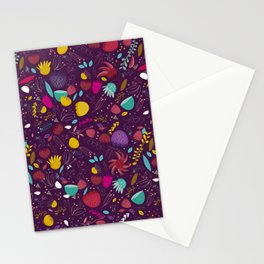 purple seeds Stationery Cards