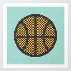 Op Art Basketball. Art Print