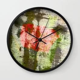 Structured Tulips Wall Clock