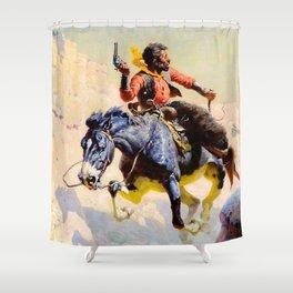 "Western Art ""The Escape"" Shower Curtain"