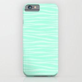Zebra Print - Sugar Mint iPhone Case
