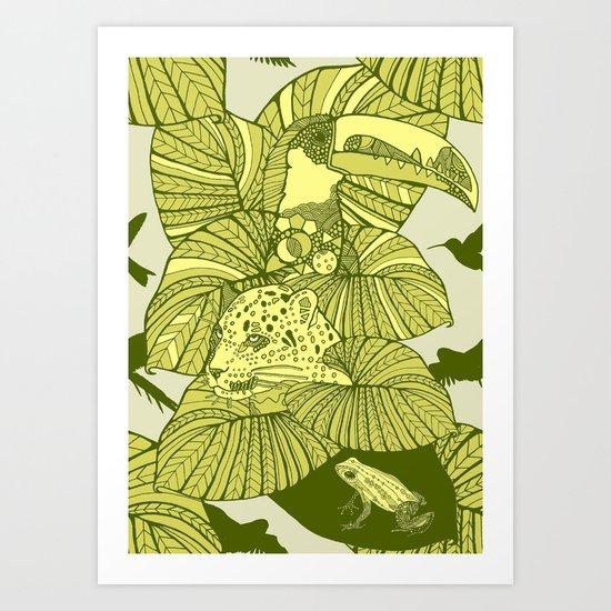 The Amazon Art Print