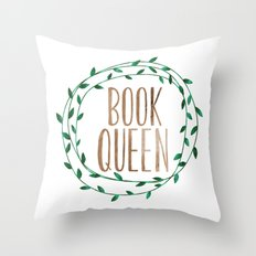 Book Queen Throw Pillow